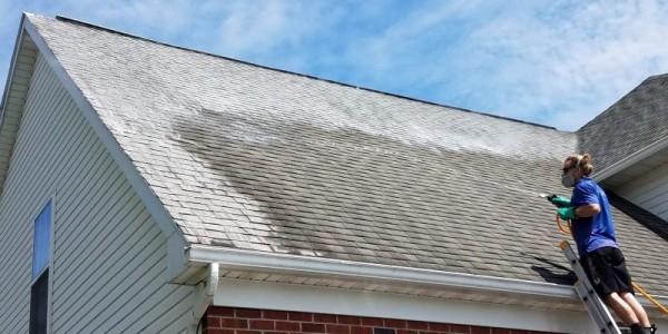 Nettoyage et démoussage pour une toiture en bon état