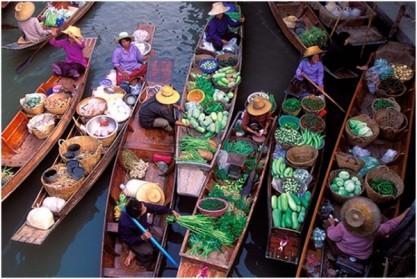 Découvrir le marché flottant de Damnoen Saduak