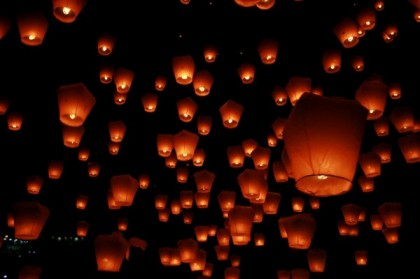 Les lanternes volantes pour un mariage
