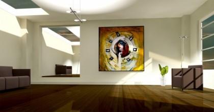 La valorisation d'une œuvre d'art dans un intérieur